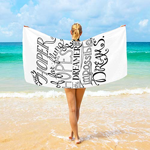 (Jacksome Jubilee Microfiber Pool Beach Towel - Quick Fast Dry Sand Free Proof Oversized Extra Large Big Outdoor Travel Rack Swim Micro Fiber Blanket Thin Yoga Mat Personalized Women Adults )