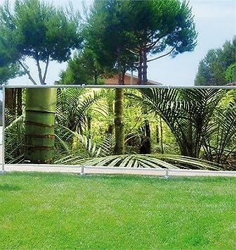 stickersnews brise vue dco personnalis jardins terrasses et balcons bambous rf 3626 occultation