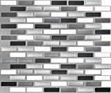 glass backsplash for kitchen - Peel and Impress - Easy DIY Peel and Stick Adhesive Backsplash Tiles, 24038 Glass Urban, Oblong, 11