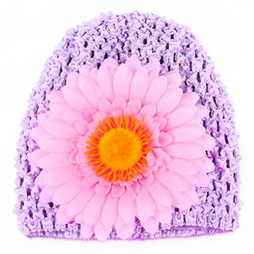 Sunfei Toddlers Infant Baby Girl Chrysanthemum Hollow Out Hat Headwear Hat (Purple)
