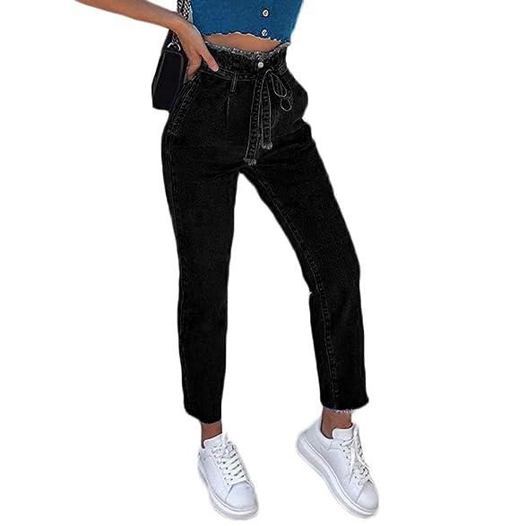 Amazon.com: lisenraIn - Pantalones vaqueros de mujer, talla ...