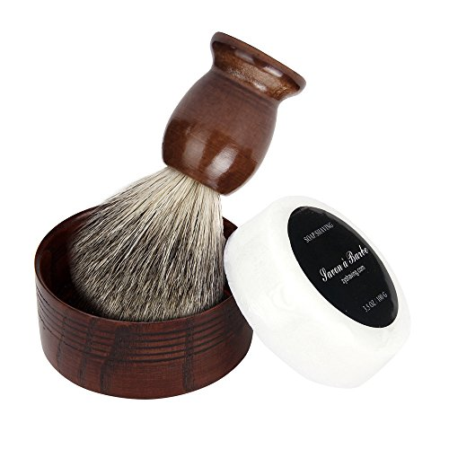 Price comparison product image DDLBiz Hair Shaving Brush Wood Mug Bowl Hand Made Soap Barber Set