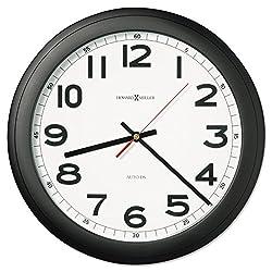 - Norcross Auto Daylight-Savings Wall Clock, 15-3/4, Black, 1 AA