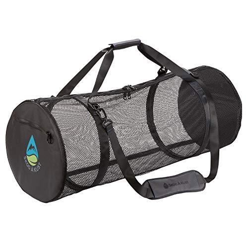 Wetsuit Dive Scuba Surf Snorkel - SCUBASak Collapsible Mesh Duffle Bag with Exterior Waterproof Pocket