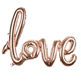 uxcell® Foil LOVE Balloon Wedding Party Anniversary Celebration Decor Rose Gold
