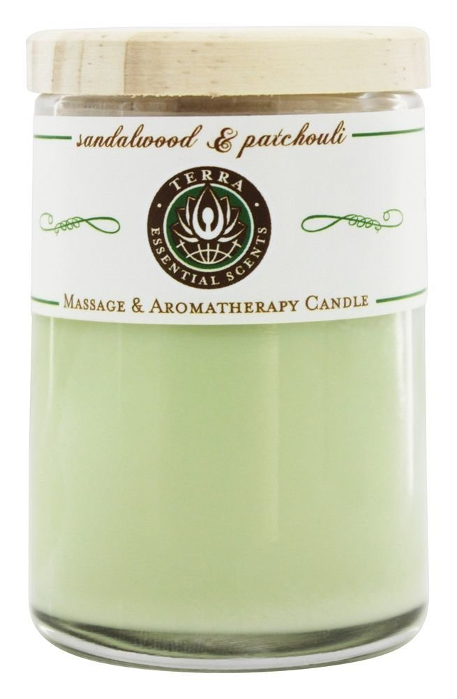TERRA ESSENTIAL SCENTS Small Candle Sandalwood, 1 Each