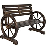 Wooden Outdoor Furniture Best Choice Products Patio Garden Wooden Wagon Wheel Bench Rustic Wood Design Outdoor Furniture