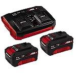 Einhell-Troncatrice-Radiale-a-Batteria-Te-Sm-36210-Li-Solo-Power-X-Change-2X-18-V-Ioni-di-Litio-Trazione-Regolare-Laser-Della-Linea-di-Taglio-2X-30Ah-Twincharger-PXC-Starter-Kit