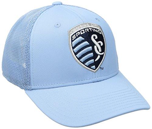 - adidas MLS Sporting Kansas City Adult Men MLS SP17 Fan Wear Tactel Trucker Flex Cap,L/XL,Blue