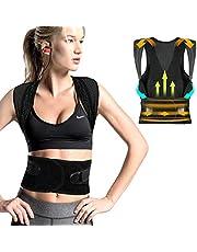 FYLINA Haltungskorrektur,Rücken Schulter Haltungstrainer,Verstellbar Atmungsaktiv Haltungstrainer Geradehalter Körperhaltung und Unterstützung für Damen und Herren (76-85cm)