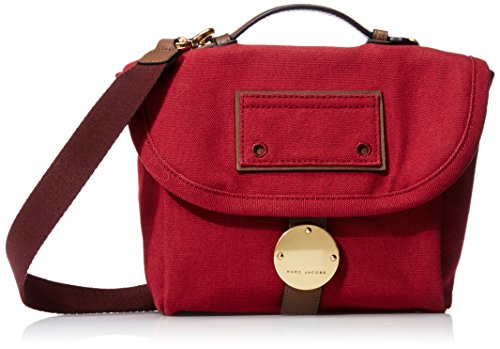 Marc Jacobs Canvas Leather Trooper Camera Bag, Merlot Multi, One Size by Marc Jacobs