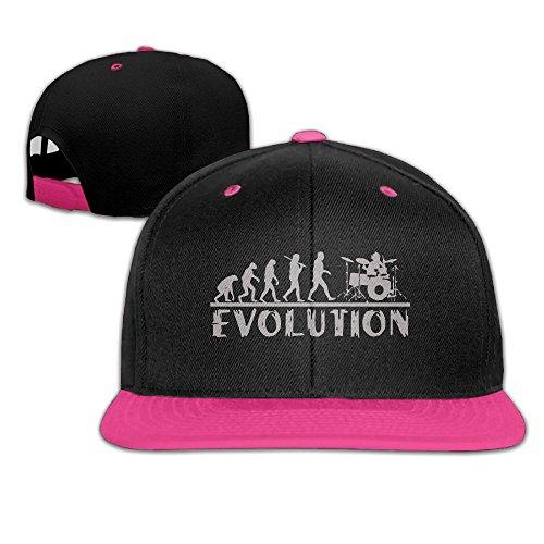 Evolution Funny Cap (Bonvzu-9 Funny Drummer Evolution Outdoor Adjustable Baseball Cap Snapback Hip Hop Hats For Men/Women)