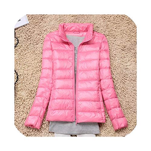 Appaman Coat Sale (Hathaway-store Autumn Winter Coat Women Ultra Light White Duck Down Jacket 4XL Female Thin Hooded Outwear Jackets,Collar)