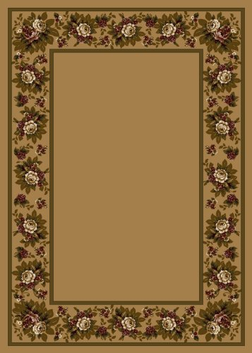 Design Center Floral Lace Maize Rug Rug Size: 7'8