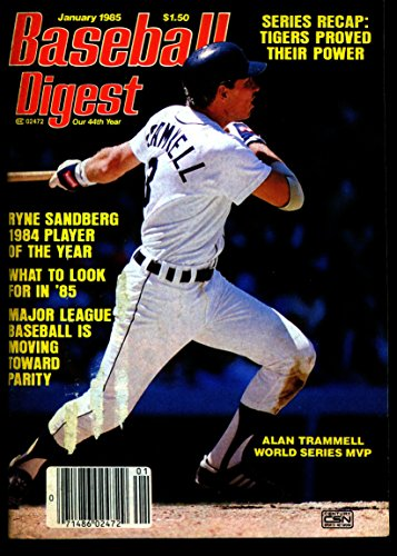 BASEBALL DIGEST JAN 1985 ALAN TRAMMELL TIGERS EX