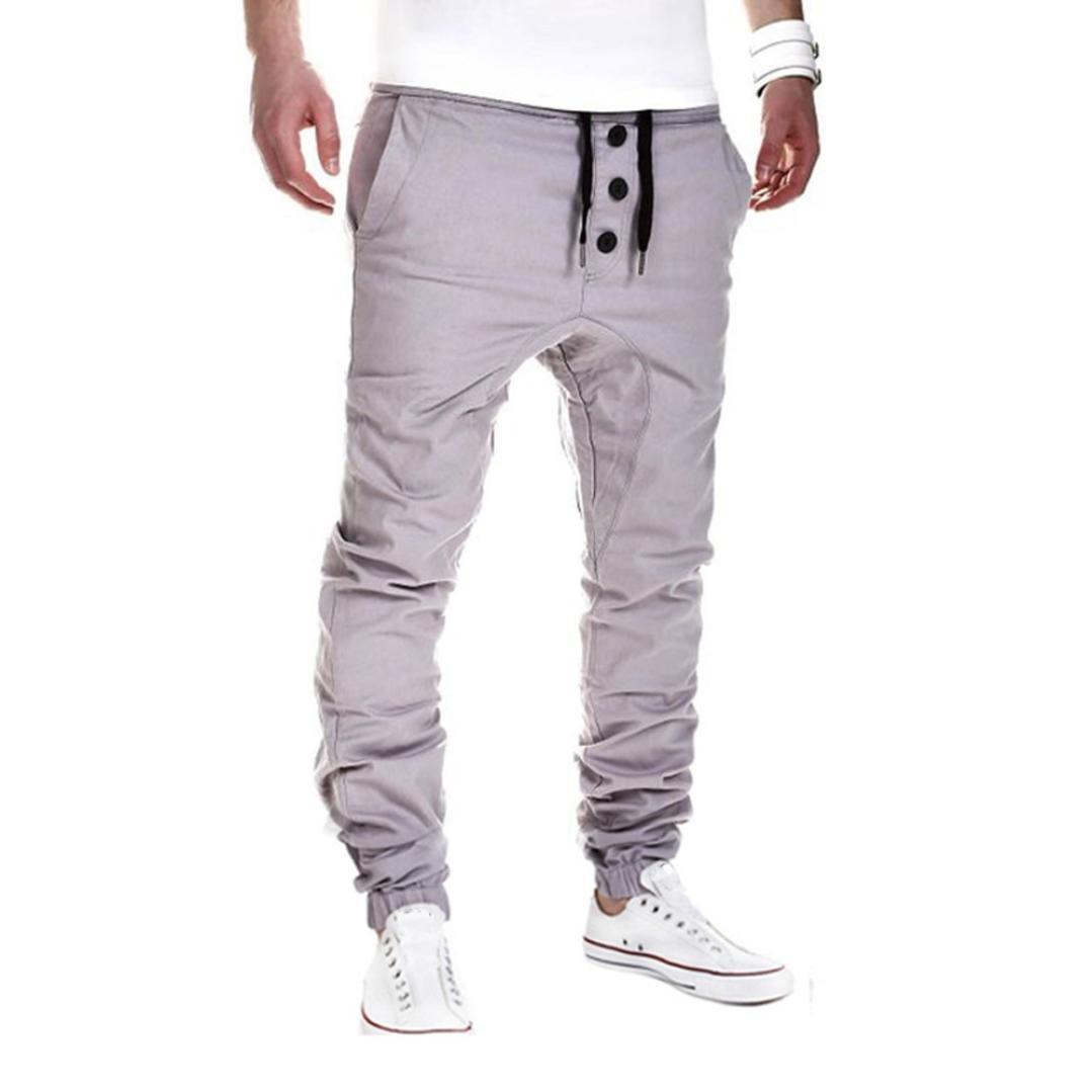 Amlaiworld Pantalones de Deporte de hombres pantalones jogger casuales Pantalones de harén Dance Sportwear Baggypara hombre: Amazon.es: Deportes y aire ...