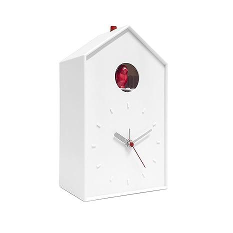 Amazon.com: Balvi Cuckoo - Reloj con pájaros blancos y ...