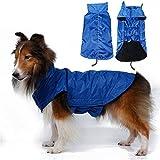 NACOCO Pet Waterproof Jacket Dog Coat Pet Coat Reflective Jacket Functional Outdoor Coat(Blue,3XL)