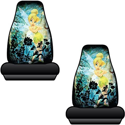 Tinkerbell Moody Tink Mystical Car Truck SUV Bucket Seat Covers - Pair