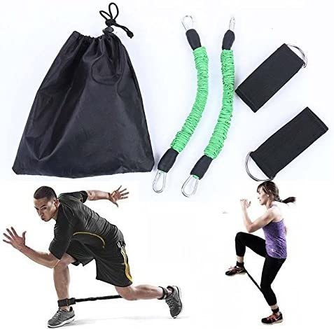 Set of 2 Athletics Speed Strength resistance Bands GYM Ankle Leg Thigh straps