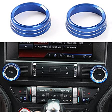 BORUIEN Ford Mustang 2015-2016 ABS Red Start//Stop Control Button Decor Cover Decal Frame Trim