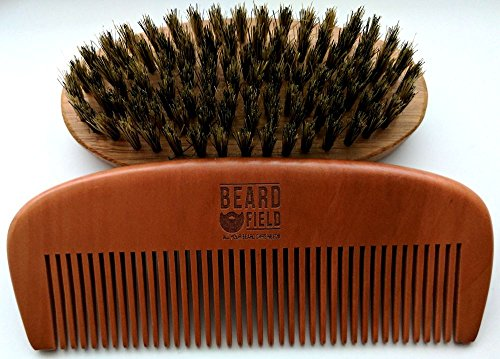 ✮ Kick-Ass Best Beard Brush and Beard Comb kit ✮100% Bristle and Handmade ✮ Ideal gift for the Bearded Man ✮