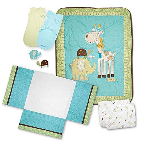 Summer Infant Giggle Gang Nursery 8-Piece Bedding Set (Discontinued by Manufacturer)