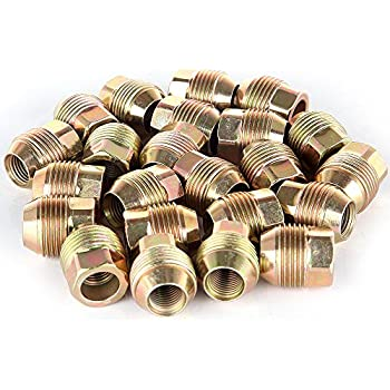 24 Veritek Performance 14x1.5mm OEM Factory Style 1.13 Length 7//8 22mm Hex Dual Thread Open End Acorn Seat Replacement Lug Nuts for Factory Chevrolet//GMC Wheels