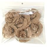 6pcs Hessian Burlap Small Flowers Rustic Wedding Craft Making Decor 4.5CM