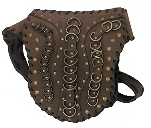 bumbag Brown emo hippy Funky Belt Fair Trade Leather made goth Leather Hand Bag qw8w7HPx