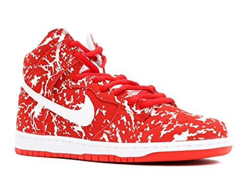 Nike DUNK HIGH PREMIUM SB mens skateboarding-shoes 313171-616 - CHALLENGE RED/WHITE-CHALLENGE RED-WHITE (11)
