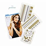 2chic Temporary Metallic Jewelry Tattoos Goddess by Twos Co