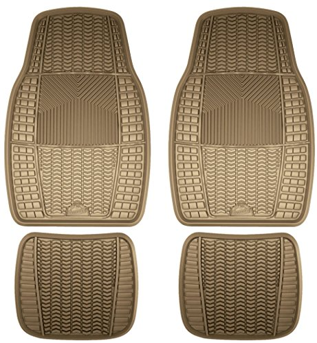 Custom Accessories Armor All 78897 4-Piece Tan Heavy Duty Rubber Floor Mat