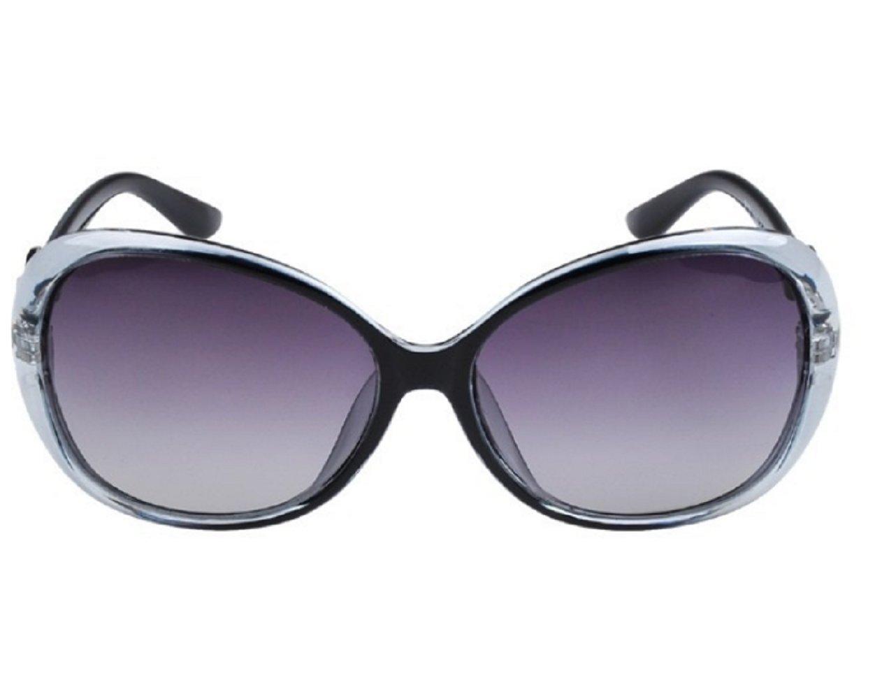 M2-Schwarz-Sonnenbrille-Frauen-Big Retro Vintage polarisierte UV400 j3zLq