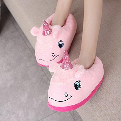 Unicorn Kigurumi Pijamas - Desshok Pijama de Animal con Capucha Para Unisexo Adulto - Ropa de Dormir Traje Disfraz para Festival de Carnaval y Halloween Rosa2
