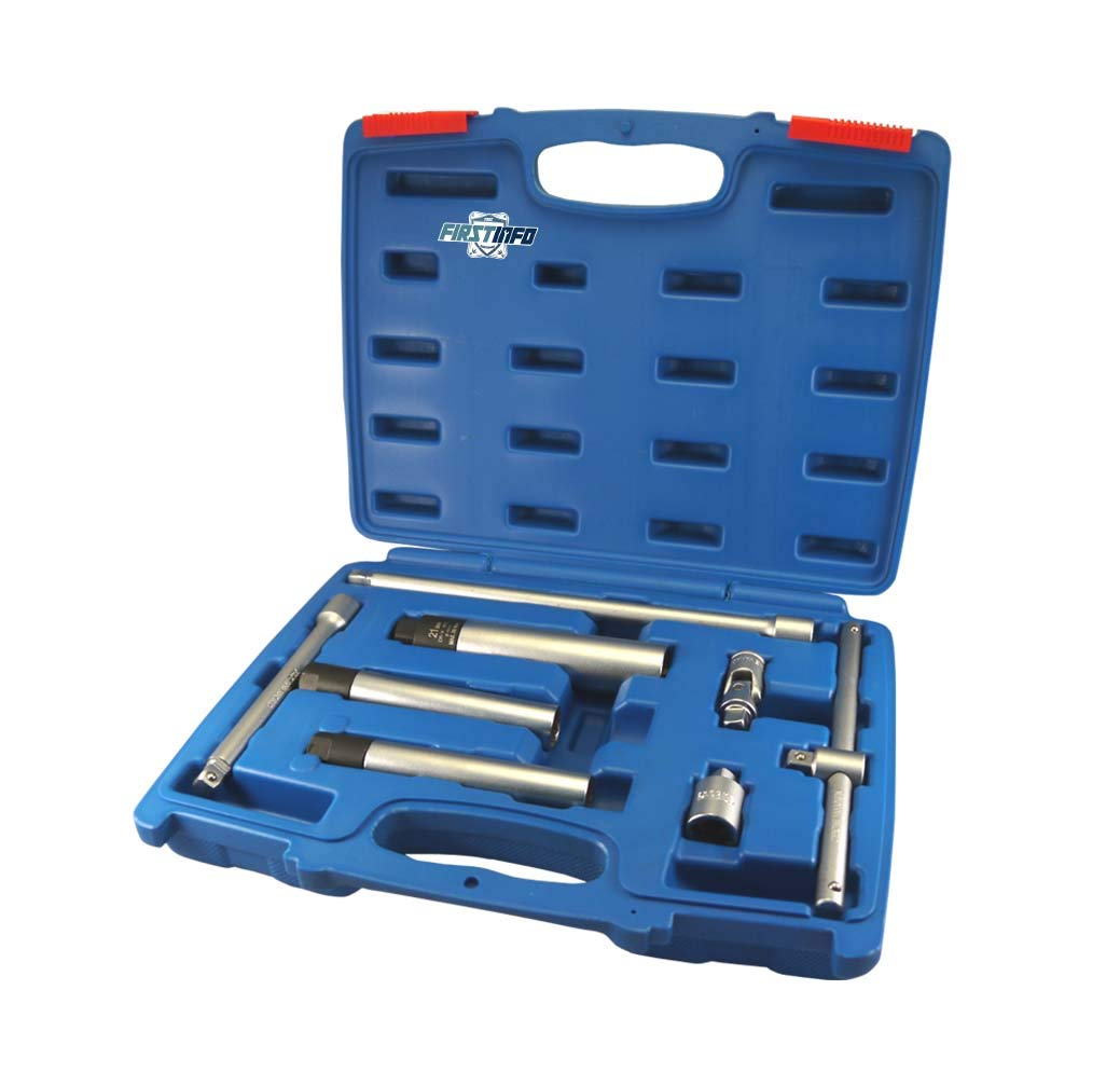 FIRSTINFO 8 PCS 3/8'' Right Force Fasten Spark Plug Torque Limited Socket (14 16 21mm) Kit
