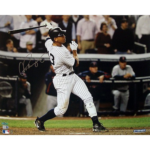 Steiner Sports MLB New York Yankees Alex Rodriguez ALDS Game 2 Two Run HR vs Twins Horizontal 16 x 20-inch Photo