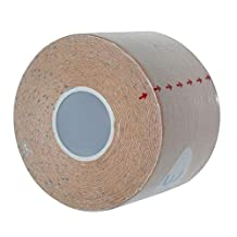 Health Care Bandages, ABC 5m x 5cm Kinesiology Tape Sports Athletic Muscle Care Physio Therapeutic Tape Bandages (Khaki)
