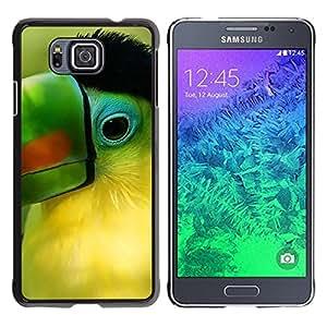 Stuss Case / Funda Carcasa protectora - Parrot Green Beak Tropical Bird Nature - Samsung GALAXY ALPHA G850