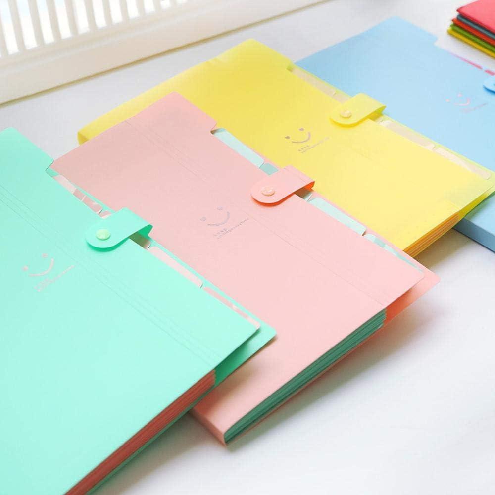 Nuevo 4 colores A4 Kawaii Carpetas Smile Carpeta de archivos ...