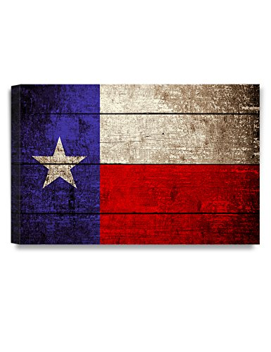 - DECORARTS - Texas State Flag. Giclee Print on 100% Archival Cotton Canvas, Canvas Wall Art Wall Decor 36x24x1.5