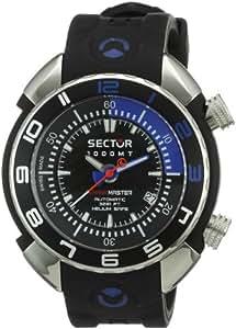 Sector SHARK MASTER 1000 R3251178025 - Reloj de caballero automático, correa de goma color negro