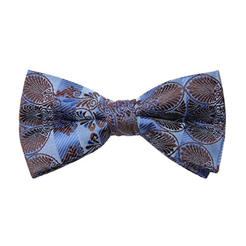 Dan Smith Mens Fashion Inspire Patterns Microfiber Mens Pre-tied Bow Tie With Free Gift Box