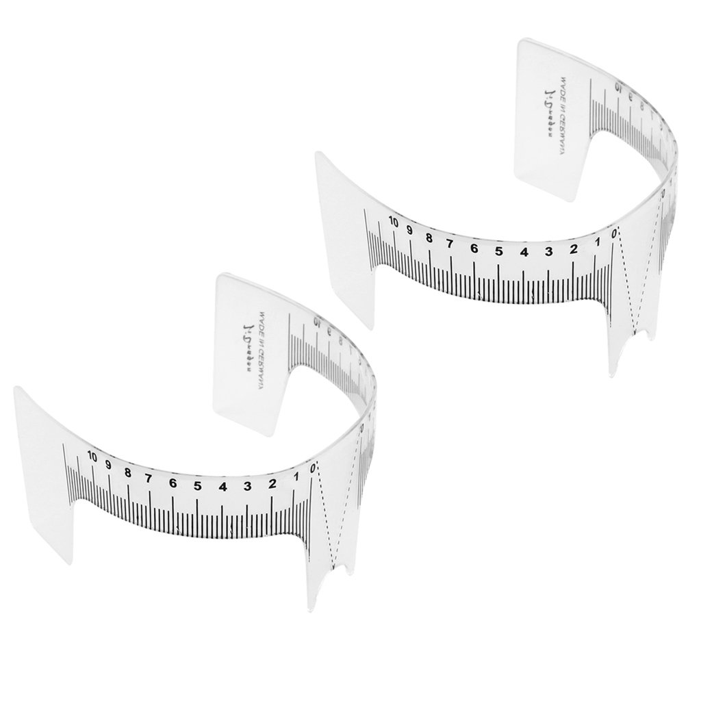 MagiDeal 2pcs Eyebrow Grooming Stencil Shaper Ruler Measure Makeup Tools Reusable