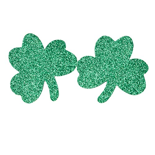 Amosfun 2pcs St patrick's day Shamrock glitter Hair Clips Hair pins Hair Barrettes Accessories st patrick's day irish party favors supplies