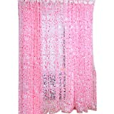 Omkuwl Floral Printed Voile Door Sheer Window Curtains Room Window Curtain Divider 200270cm