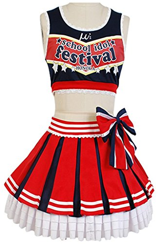 [LoveLive! Nozomi Tojo Cheerleaders Suit Outfit Uniform Cosplay Costume] (Cheerleader Outfit For Sale)