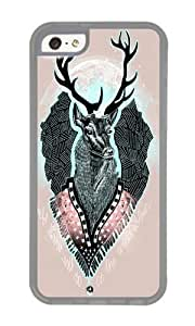 Iphone 5C Case,WENJORS Cool Wind Deer Soft Case Protective Shell Cell Phone Cover For Iphone 5C - TPU Transparent
