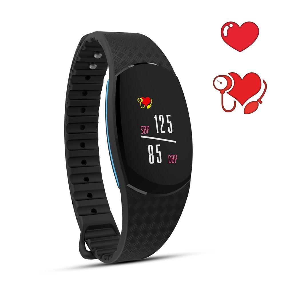 Keptfit Smart Bracelet Fitness Tracker with HR Blood Pressure Monitor, IP67 Waterproof Colorful Screen Smart Watch Calorie Counter Smart WristBand Sleep Monitor (Smart Bracelet)
