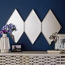 Sandra Triple Diamond Wall Mirror with Stainless Steel Frame
